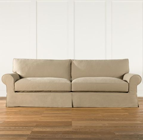 Grand-Scale Roll Arm Slipcovered Sofa