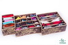 Набор из 3-х органайзеров для белья, Горький Шоколад