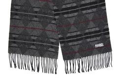 Шерстяной шарф, мужской серый 30063