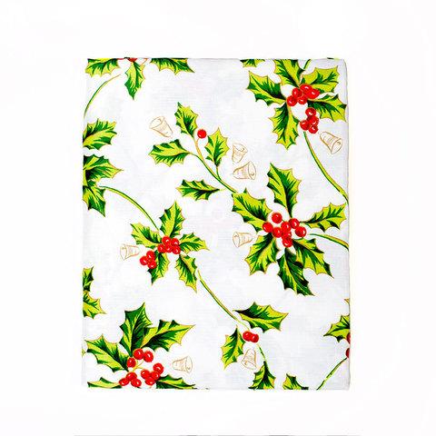 Скатерть 152х213 Carnation Home Fashions Christmas Fabric Tablecloths Holly
