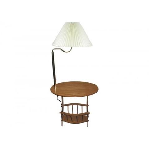 Журнальный стол с торшером 20649 деревянный дуб