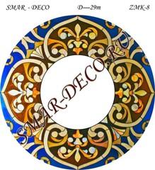 Эскиз для росписи, Зеркало диаметр 29см, SMAR-zmk-8