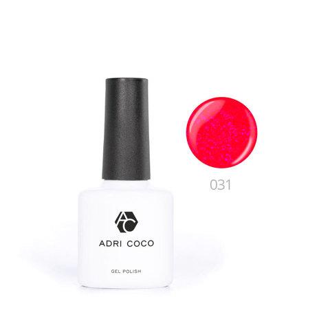 Цветной гель-лак ADRICOCO №031 мерцающий земляничный (8 мл.)
