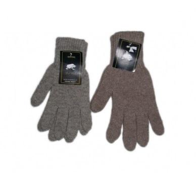 Перчатки из  шерсти  яка серые фото1