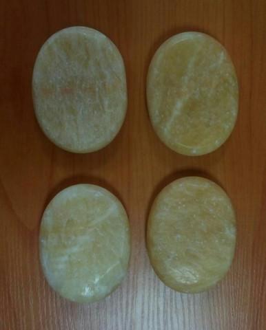Набор профессиональной формы из желтого нефрита 4 шт.