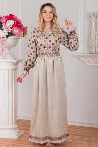 Платье традиционное Льняное поле
