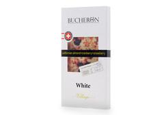 Белый шоколад с миндалем, клюквой и клубникой