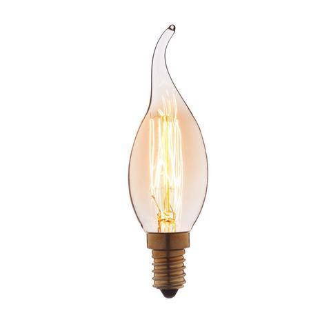 Лампа накаливания E14 40W свеча на ветру прозрачная 3540-GL