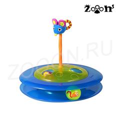 Petstages игрушка для кошек Трек с двумя мячиками