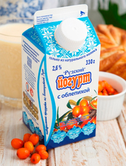 Йогурт с облепихой 2,6%