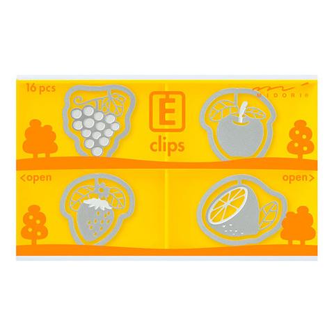 Скрепки Midori E-Clips Fruits (16 шт)