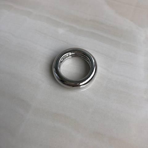 Кольцо Классическое, серебряный цвет