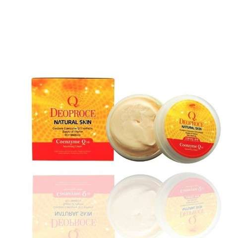 DEOPROCE NATURAL SKIN Крем для лица и тела  с коэнзим Q10 DEOPROCE NATURAL SKIN COENZYME Q10 NOURISHING CREAM 100g 100гр
