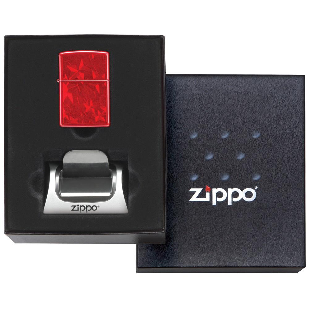 Подарочная коробка  с  подставкой 142226 для зажигалки Zippo MGSGK