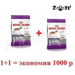 Royal Canin Giant Junior для щенков очень крупных пород с 8 месяцев, 15кг+15кг. Скидка 1000 руб. после регистрации на сайте