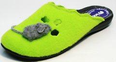 Войлочные тапочки женские без задника Inblu NC- 1B Mouse Light Green