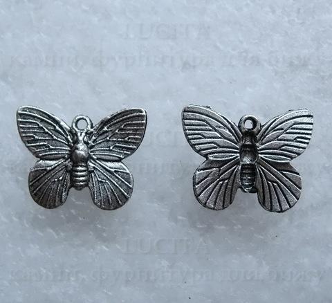 "Подвеска  ""Бабочка"" (цвет - античное серебро) 18х15 мм ()"