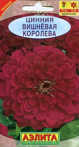 Семена Цветы Цинния Вишневая королева