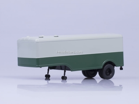 Semitrailer MAZ-5217 gray-green AutoHistory 1:43