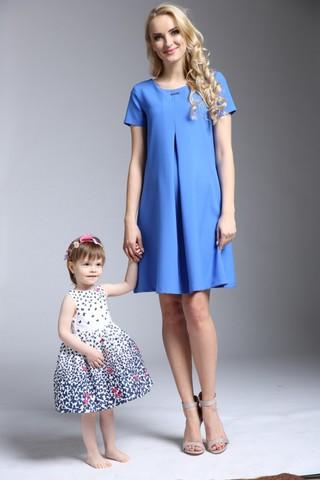 Платье для беременных 06149 синий