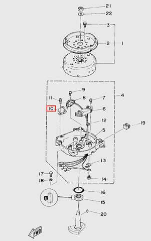 Датчик хола  для лодочного мотора T5 Sea-PRO (5-10)