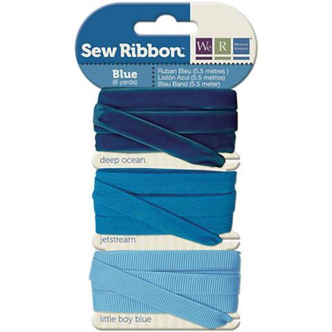 Набор лент. We R Memory Keepers Sew Ribbon - 5,5м- Blue