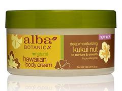 Гавайский крем для тела с орехом кукуйи, Alba Botanica