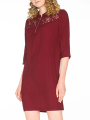 GDR011879 Платье женское, бордовое