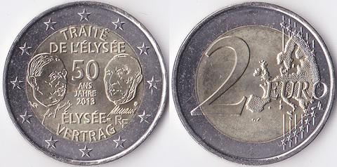 Франция 2 евро 2013 Франко-германская дружба
