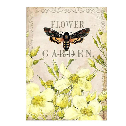 Водорастворимая бумага Желтый сад