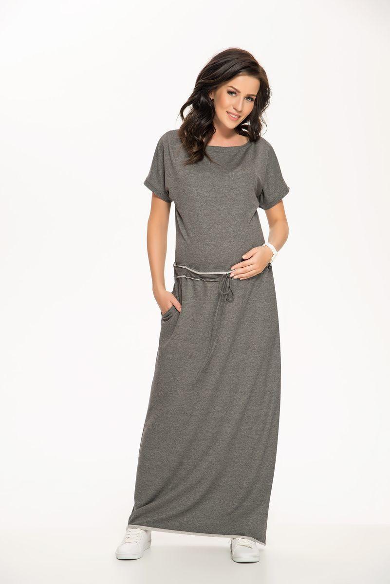 Платье для беременных 08276 серый