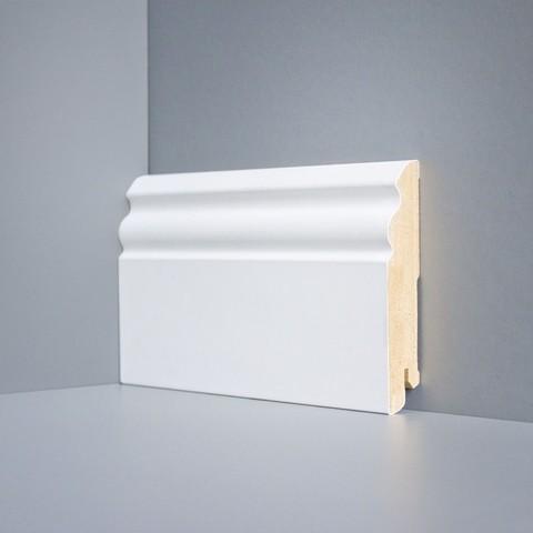 Белый ламинированный плинтус DEARTIO U105-100