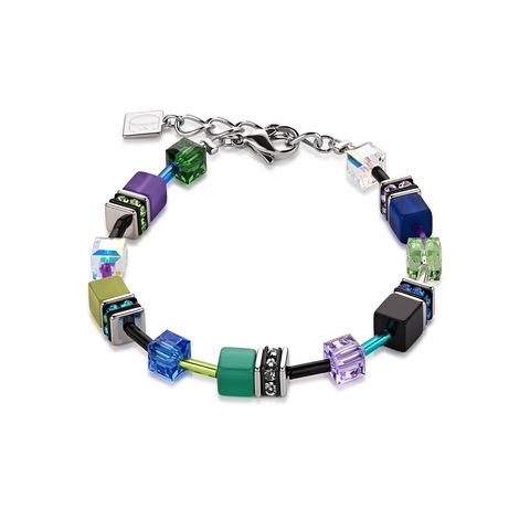 Браслет Coeur de Lion 2838/30-1554 цвет синий, зелёный, фиолетовый