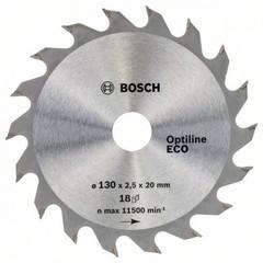 Диск по дереву Bosch 130х2,5х20/16 мм Optiline ECO Z18