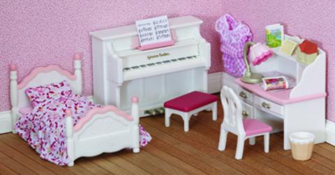 """Набор """"Детская комната"""", бело-розовая Sylvanian families 5032 (2953)"""