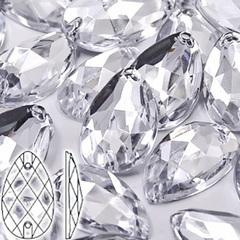 Стразы пришивные акриловые Drope Crystal, Капля Кристал прозрачный на StrazOK.ru