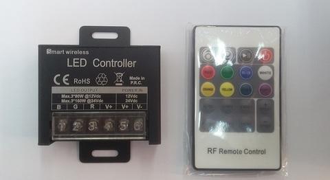 Контроллер RGB 12/24V. 240/480W. 20A с цветным пультом, 24 кнопки