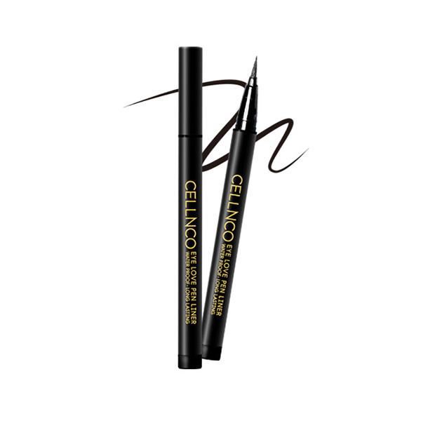 Подводка для глаз водостойкая тон 02 Черный Cellnco Eye Love Pen Liner Sexy Black