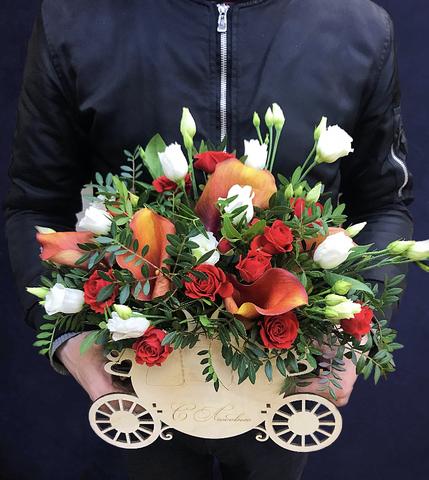 Цветы в деревянном ящике #2803