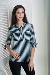 Иванна. Красивая блуза больших размеров. Мята полоса