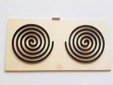Трафареты графомоторные Спирали, для одновременного рисования двумя руками, Сенсорика