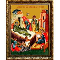 Рождество Иоанна Предтечи. Икона на холсте.