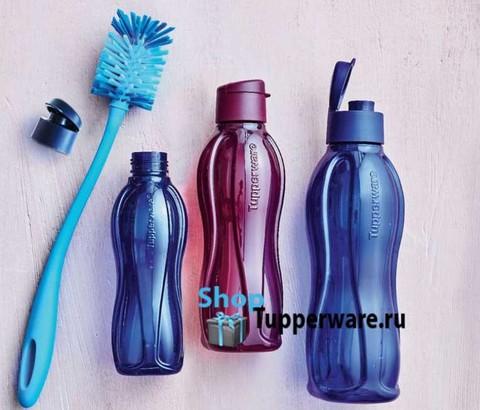 ершик для бутылок, бутылка эко 500мл, 750мл, 1л Tupperware