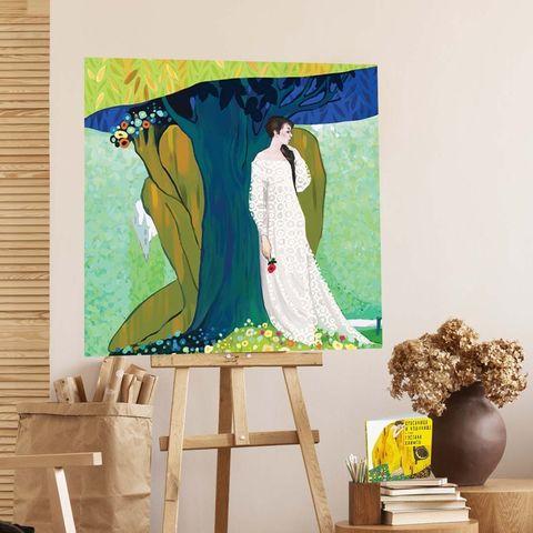 Картина «Красавица и Чудовище» 30х30см или 80х80см