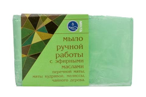 Melta Мыло ручной работы с эфирными маслами Мята и Чайное дерево 100гр
