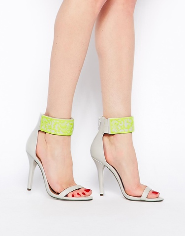 Босоножки на каблуке ASOS HEXAGON