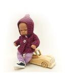Кофта с капюшоном - На кукле. Одежда для кукол, пупсов и мягких игрушек.