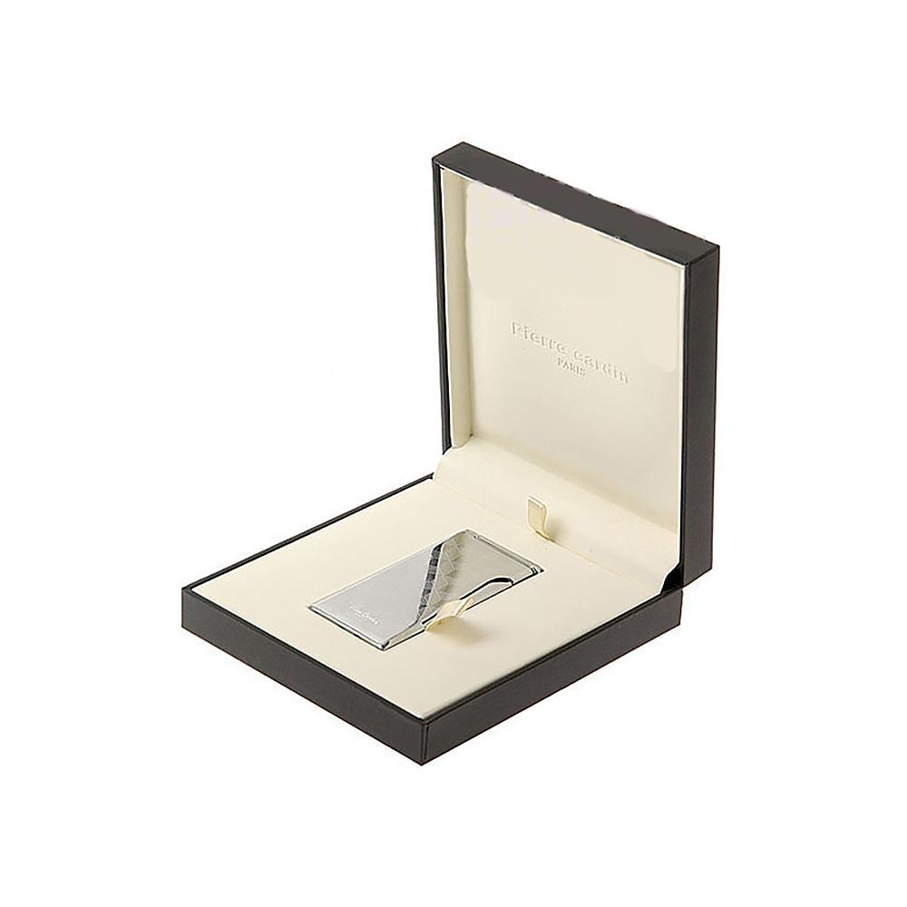 Зажигалка Pierre Cardin кремниевая газовая турбо, цвет серебристый с гравировкой, 3,5х0,6х7,6 см