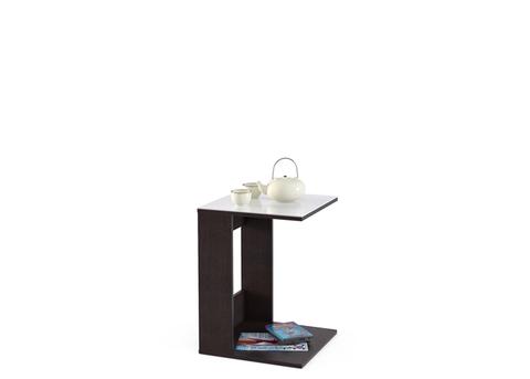 Стол приставной Kenner 3 венге/стекло белое