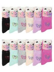 6761 носки женские 37-41 (12 шт.) цветные
